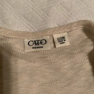 Cato Tops - Cream floral blouse